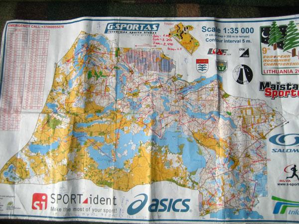Карта с планом прохождения КП